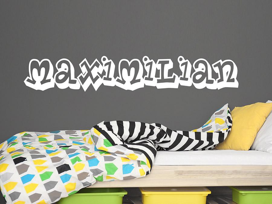Wandtattoo Graffitischrift Mit Wunschname Wandtattoo De