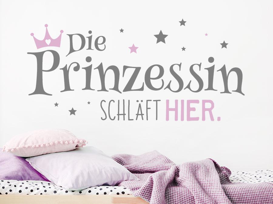 Wandtattoo Die Prinzessin Schlaft Hier Wandtattoo De