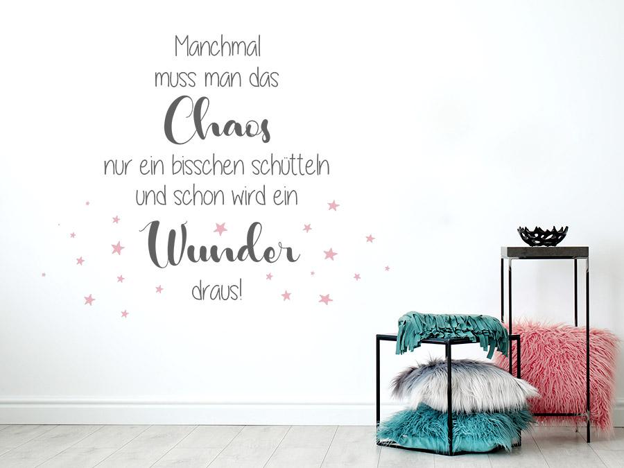 Wandtattoo Chaos und Wunder