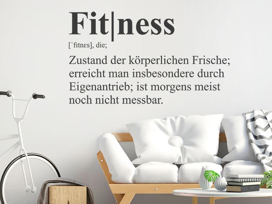 wandtattoo fitness definition sport wandtattoo de. Black Bedroom Furniture Sets. Home Design Ideas