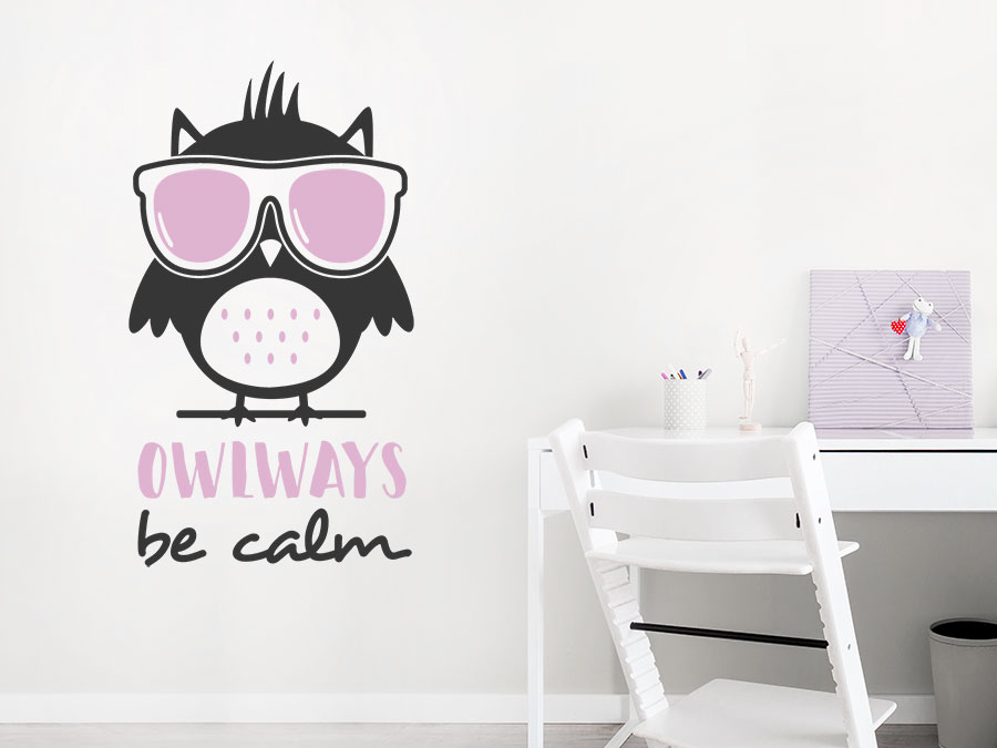 Wandtattoo Owlways be calm