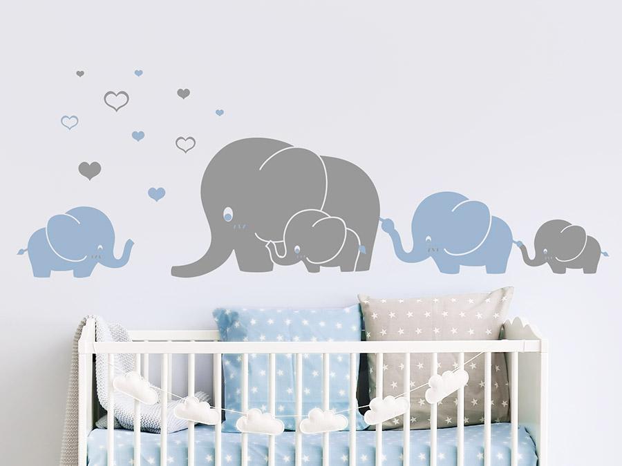 Wandtattoo Babyzimmer Elefant