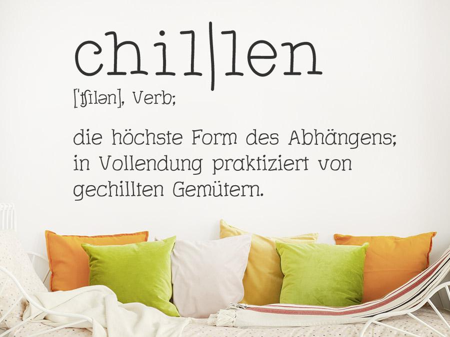 Wandtattoo Definition Chillen