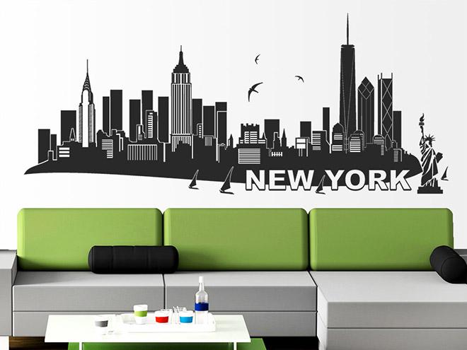 wandtattoo new york skyline wandtattoo de. Black Bedroom Furniture Sets. Home Design Ideas