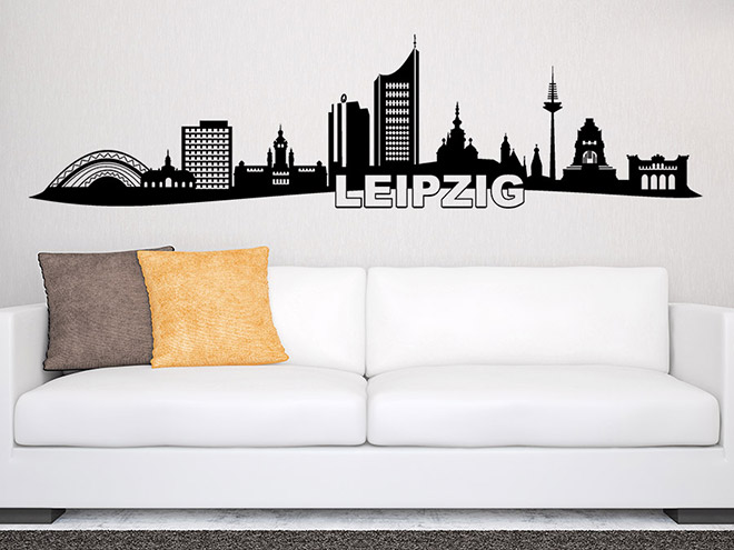 wandtattoo leipzig skyline wandtattoo de. Black Bedroom Furniture Sets. Home Design Ideas