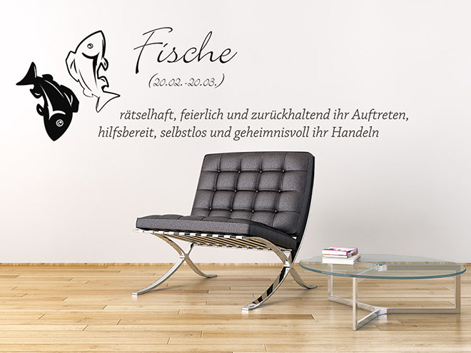 wandtattoo sternzeichen fische wandtattoo de. Black Bedroom Furniture Sets. Home Design Ideas