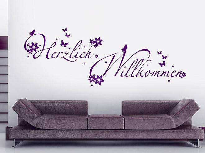 wandtattoo auf wei er wand ideen und inspirationen. Black Bedroom Furniture Sets. Home Design Ideas