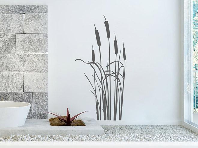 wandtattoo schilfgras von. Black Bedroom Furniture Sets. Home Design Ideas