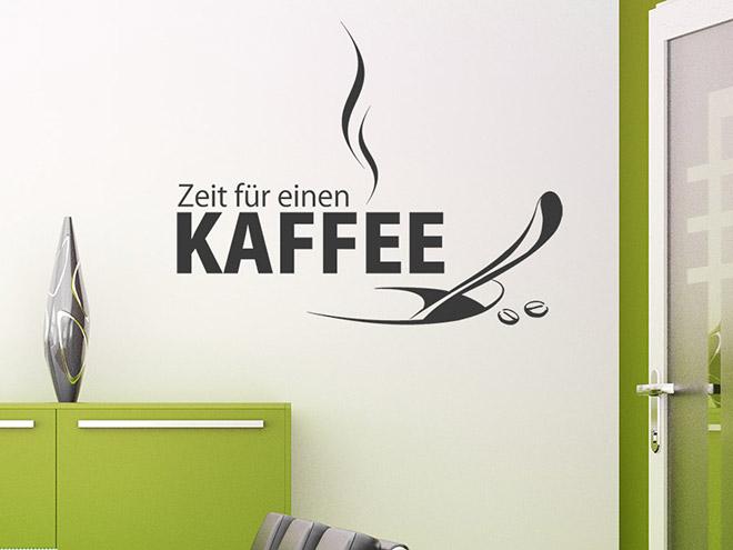 Zeit für einen Kaffe als Wandtattoo