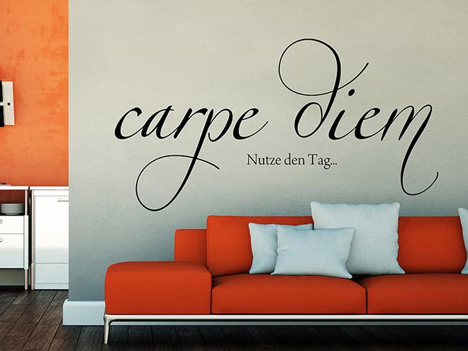 wandtattoo verschn rkeltes carpe diem wandtattoo de. Black Bedroom Furniture Sets. Home Design Ideas
