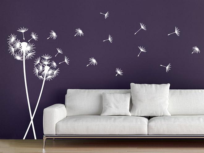wandtattoo pusteblumen im wind wandtattoo de. Black Bedroom Furniture Sets. Home Design Ideas