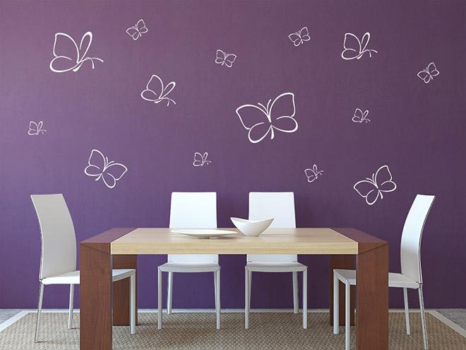 wandtattoo schmetterlinge aus zarten linien wandtattoo de. Black Bedroom Furniture Sets. Home Design Ideas
