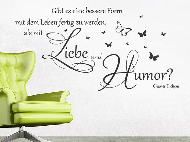 Charles Dickens Zitat über Liebe und Humor