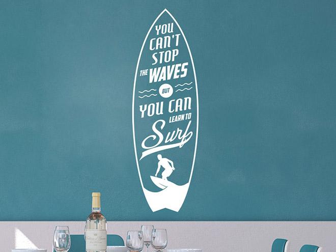 Wandtattoo Stop The Waves Vintage Schrift Wandtattoode