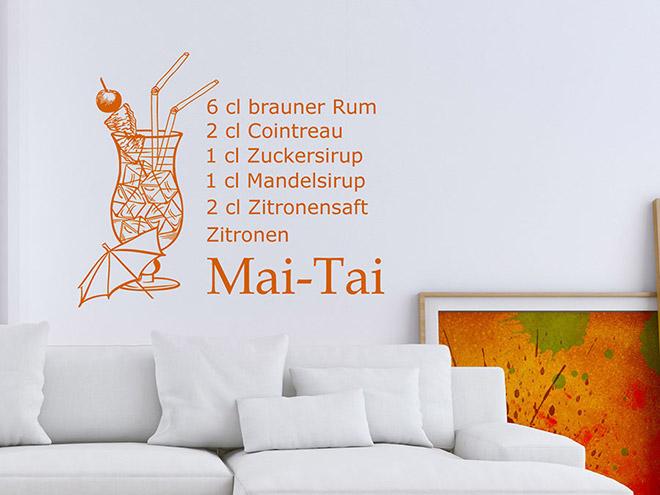 Wandtattoo Mai Tai