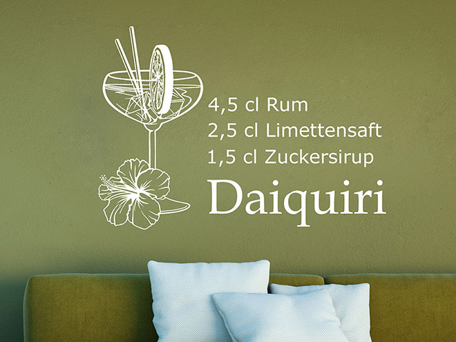 Wandtattoo Daiquiri