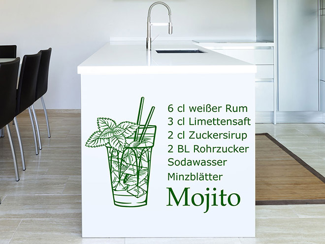 Wandtattoo Mojito