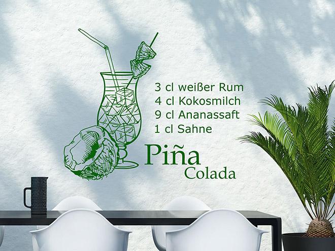 Wandtattoo Piña Colada