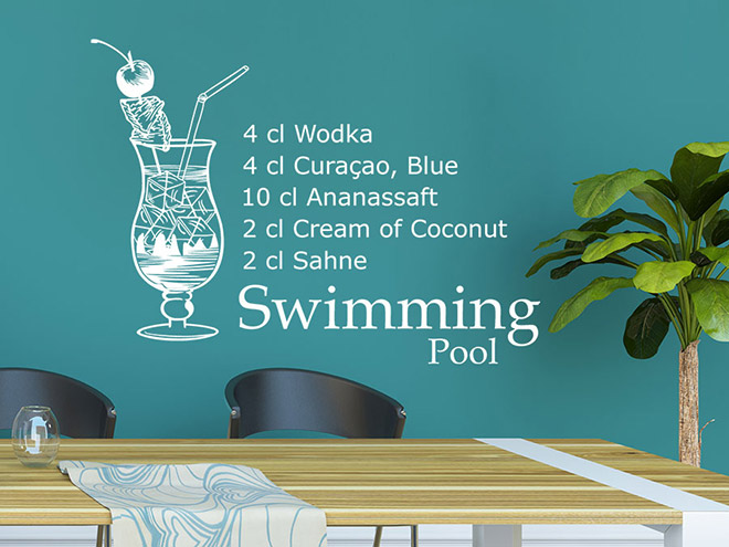 Wandtattoo Swimming Pool