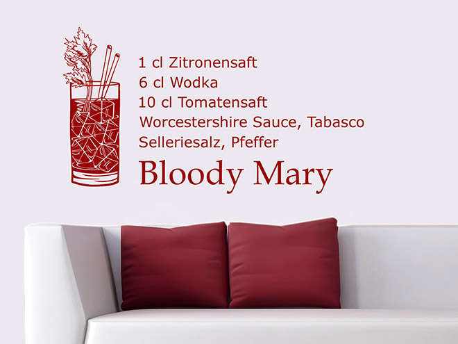 Wandtattoo Bloody Mary