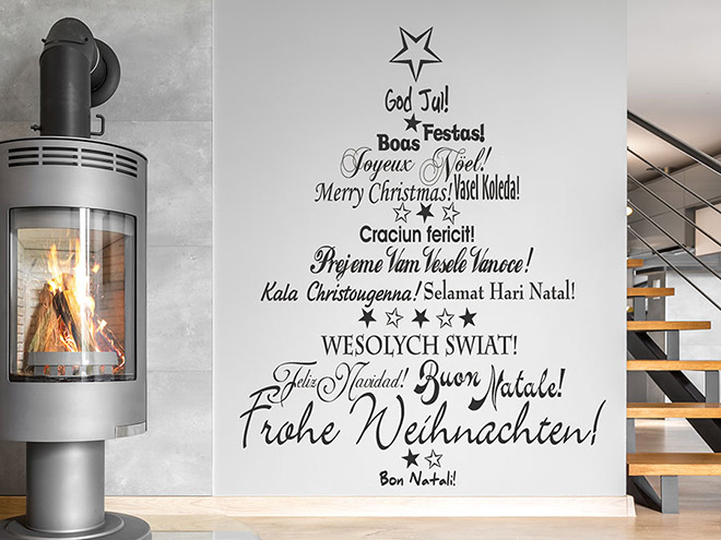 wandtattoo mehrsprachiger weihnachtsbaum wandtattoo de. Black Bedroom Furniture Sets. Home Design Ideas