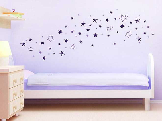 wandtattoo zweifarbiger sternenhimmel wandtattoo de. Black Bedroom Furniture Sets. Home Design Ideas