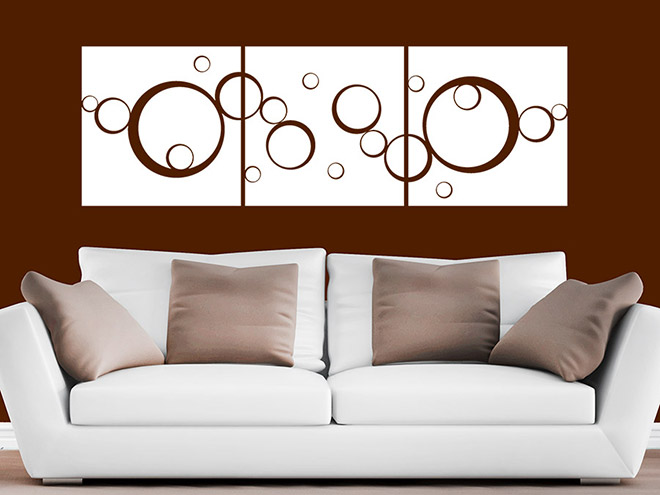 wandtattoo banner horizontale kreise set wandtattoo de. Black Bedroom Furniture Sets. Home Design Ideas