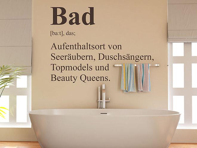 Wandtattoo Bad Definition 2
