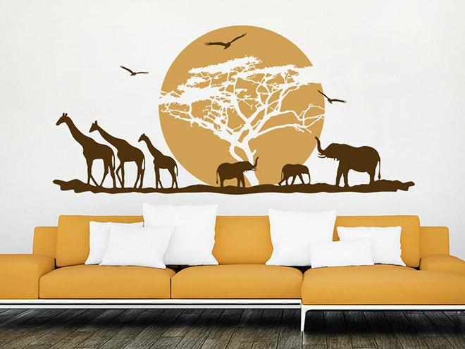 Wandtattoo afrika hitze in der savanne wandtattoo de - Wandtattoos afrika style ...