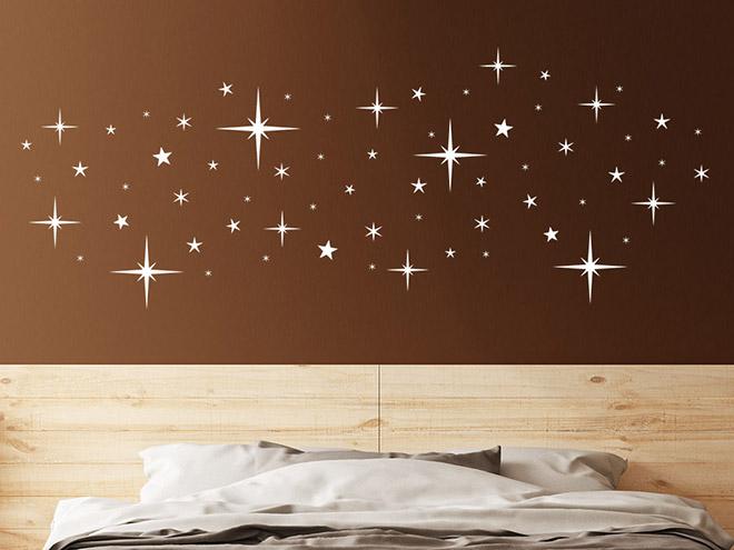 wandtattoo nachthimmel sterne set wandtattoo de. Black Bedroom Furniture Sets. Home Design Ideas