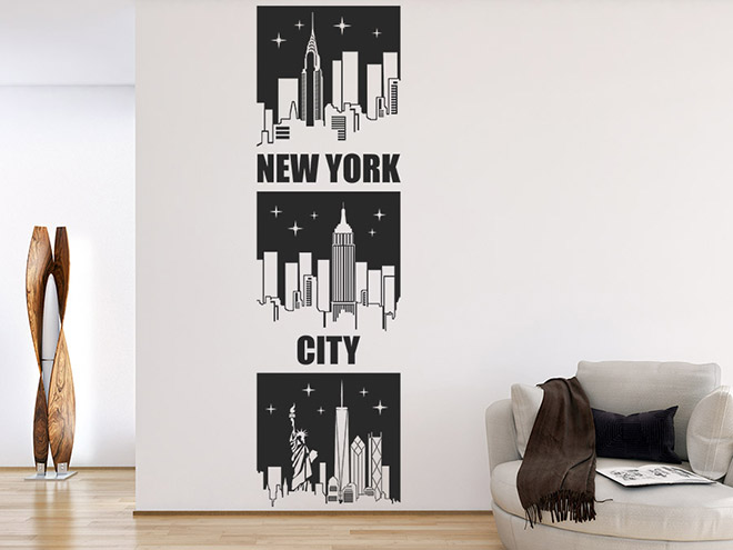 wandtattoo banner new york city wandbanner wandtattoo de. Black Bedroom Furniture Sets. Home Design Ideas