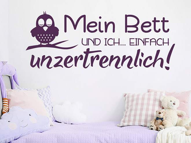 wandtattoo mein bett und ich einfach wandtattoo de. Black Bedroom Furniture Sets. Home Design Ideas