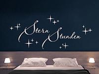 traumhaftes Stern Stunden Wandtattoo über dem Bett
