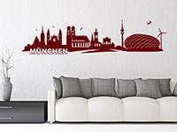 Skyline Wandtattoo München im Wohnzimmer