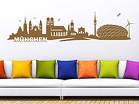 München Wandtattoo Skyline über dem Sofa