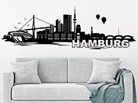 Wandtattoo Skyline Hamburg | Bild 2
