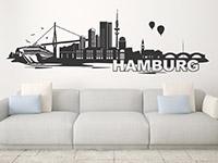 Wandtattoo Skyline Hamburg | Bild 3