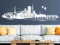 Wandtattoo Skyline Hamburg | Bild 4