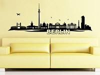 Skyline Wandtattoo Berlin im Wohnzimmer