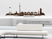 Berlin Skyline Wandtattoo in Farbe als dekorative Gestaltungsidee