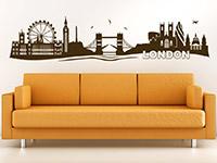 Skyline Wandtattoo London im Wohnzimmer