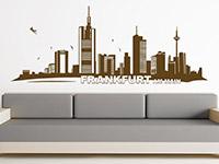 Skyline Wandtattoo Frankfurt im Wohnzimmer
