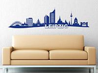 Skyline Wandtattoo Leipzig im Wohnzimmer