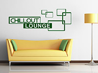 Lounge Wandtattoo Chillout in Farbe
