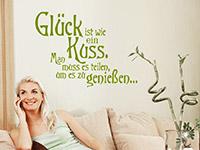 Wandtattoo Glück ist wie ein Kuss... | Bild 3