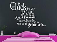 Wandtattoo Glück ist wie ein Kuss... | Bild 4