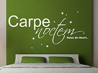 lateinisches Carpe Noctem Wandtattoo mit Sternen