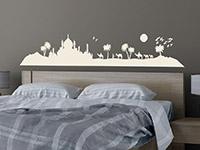 Skyline Wandtattoo Oase im Schlafzimmer
