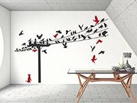 Wandtattoo Stromleitung mit Vögeln | Bild 3