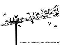 Wandtattoo Vogelschar Motivansicht